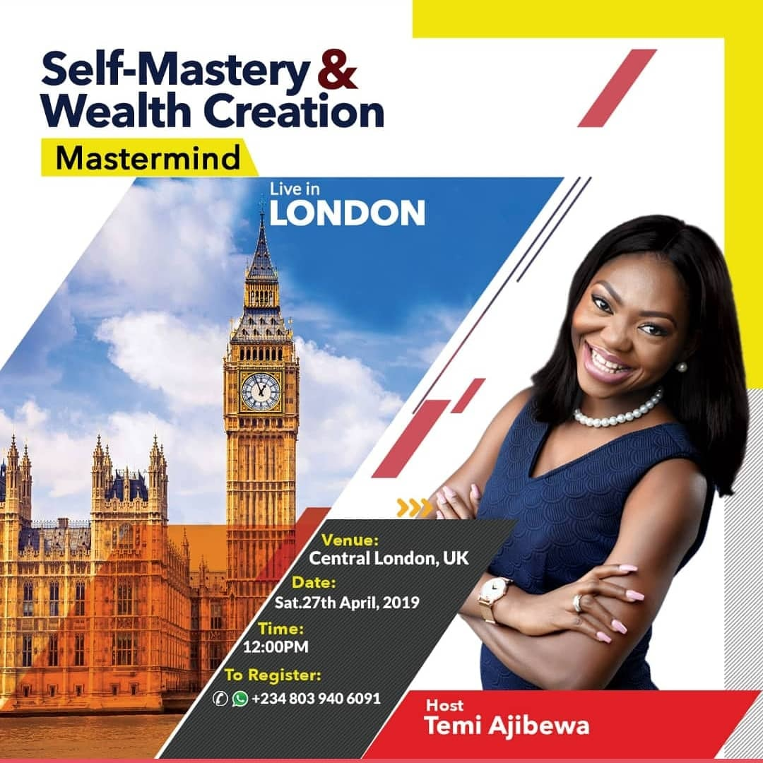 Self-Mastery & Wealth Creation Mastermind In London.